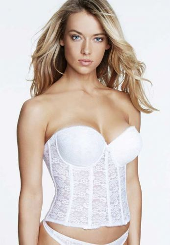 Deep Plunge Low Back Push Up Basque in Lace . 7a88344a9